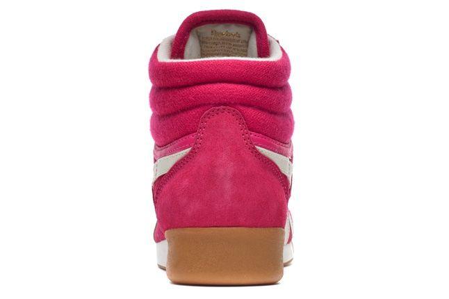 Reebok Freestylehi Suede Pink Heel Detail 1