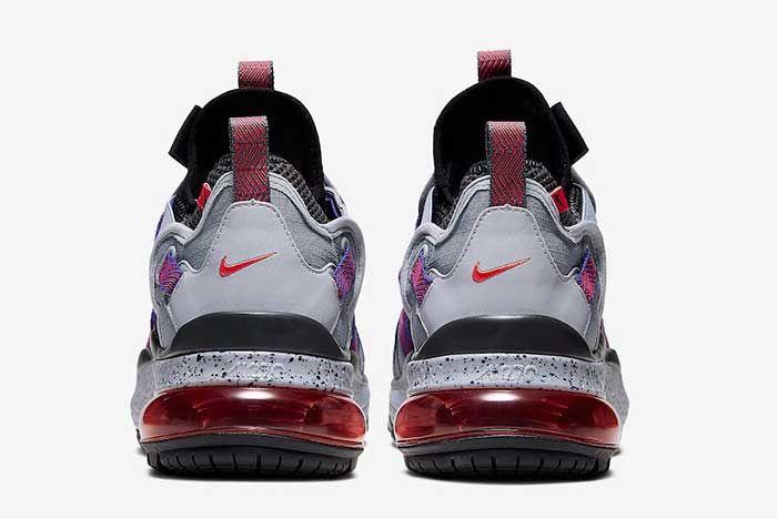 Nike Air Max 270 Bowfin Cool Grey Concord Aj7200 009 Heel
