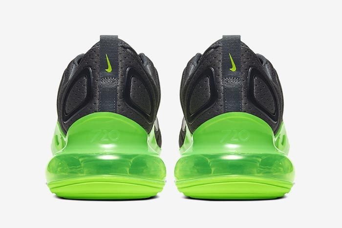 Nike Air Max 720 Black Volt Heels