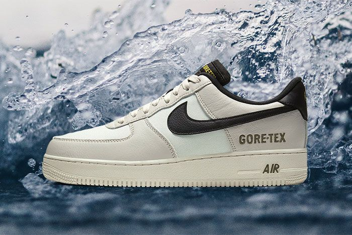 Nike Air Force 1 Gore Tex Light Bone Medium Olive Ck2630 002 Lateral