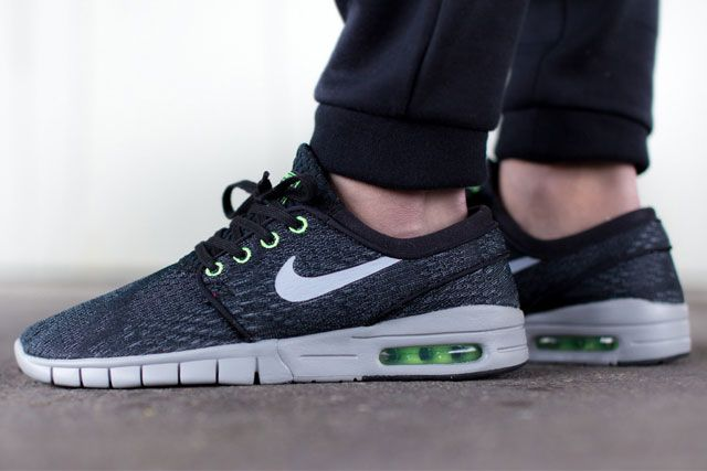 Nike Sb Janoski Max Blackwolf Greyflash Lime 4