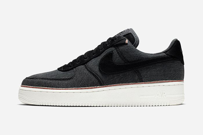 3X1 Nike Air Force 1 Low Denim Black Release Date Lateral