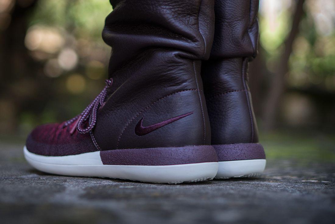 Nike Roshe Two Hi Flyknit Wmns Deep Burgundy3