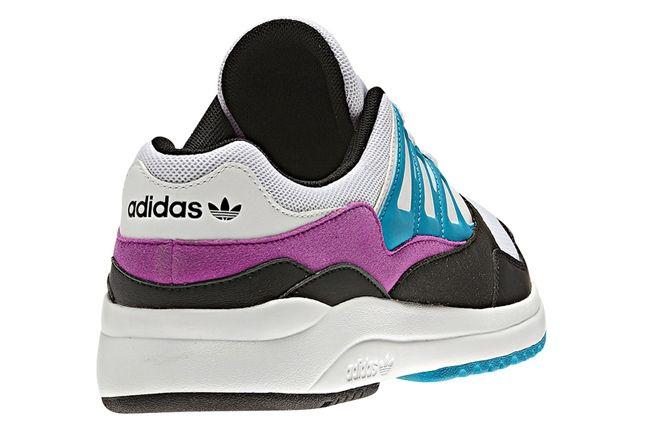 Adidas Torsion Allegra Grey Pink Blue Heel 1