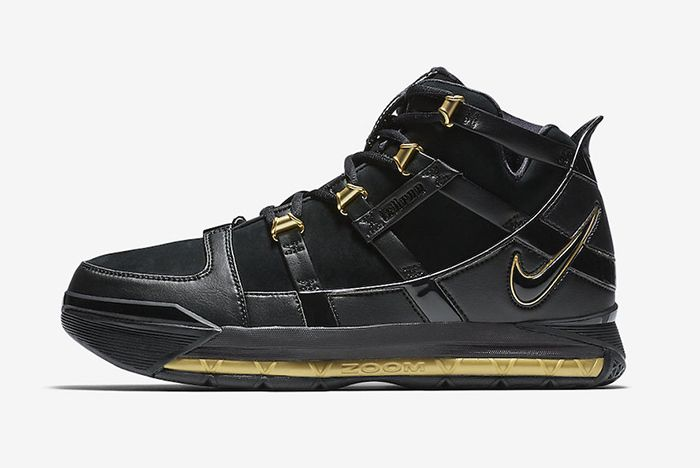 Nike Zoom Lebron 3 Black Gold 2018 Retro 2