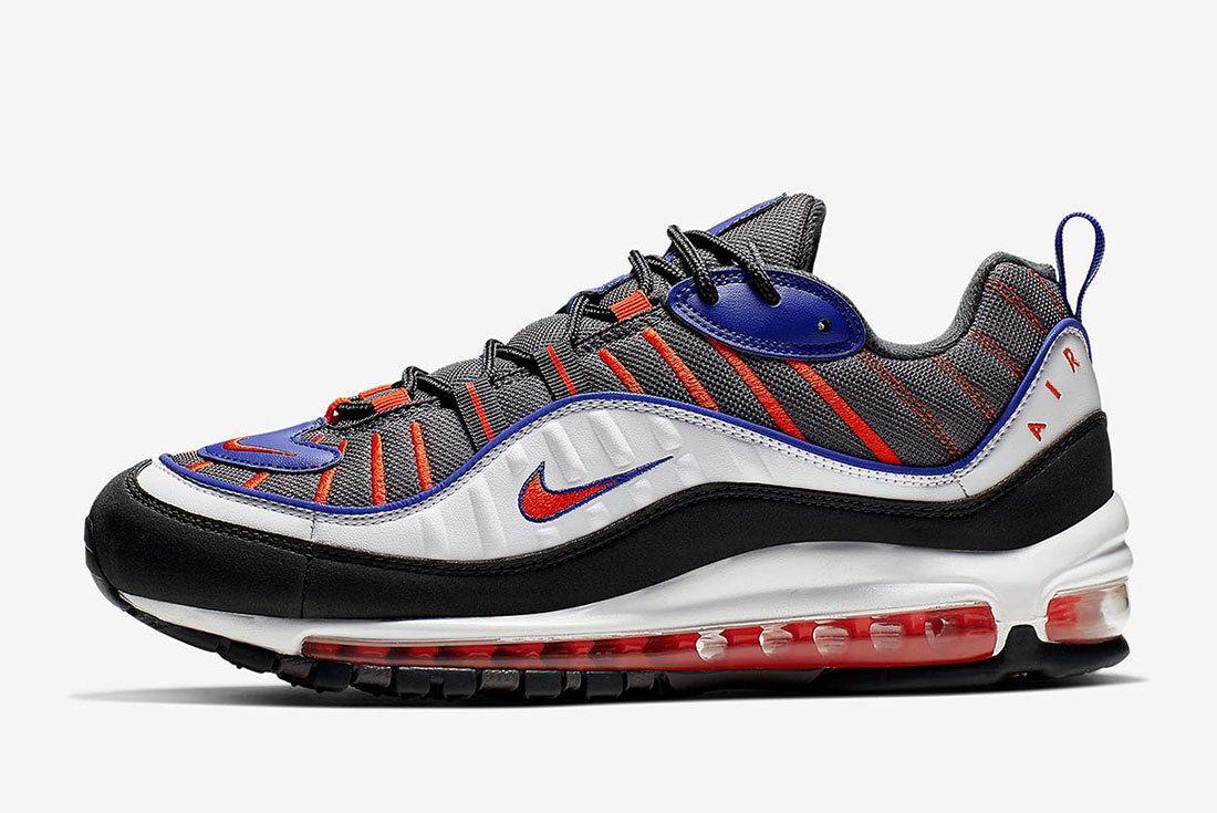 Nike Air Max 98 Grey Blue Orange 640744 012 2