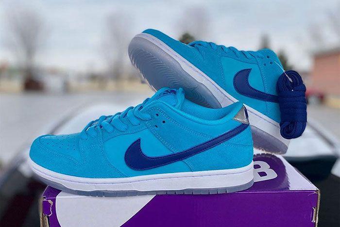 Nike Sb Dunk Low Blue Furry Bq6817 400 Release Date 1 Leak
