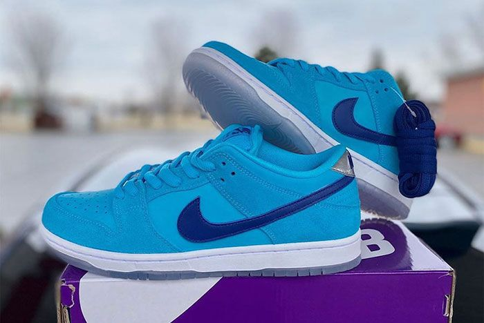 Nike Sb Dunk Low Blue Furry Bq6817 400 Release Date 1 Leak