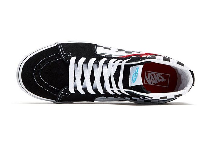 David Bowie Vans Collaboration Capsule Collection Sk8 Hi Top