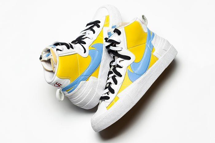 Sacai Nike Blazer Whitebaby Blueyellow Side Shot 5