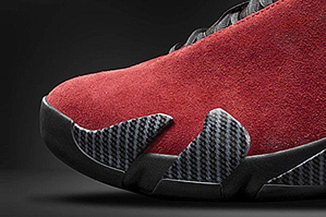 Air Jordan Xiv Red Suede Closeup2