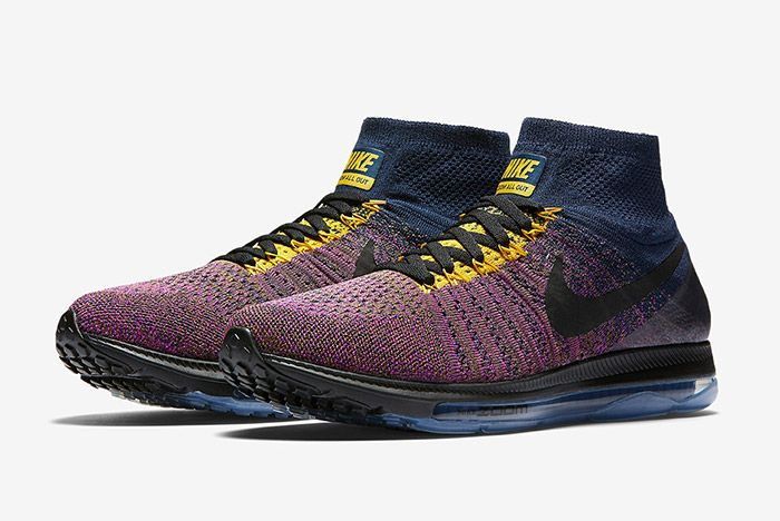 Nike Zoom All Out Flyknit Navy Purple 5