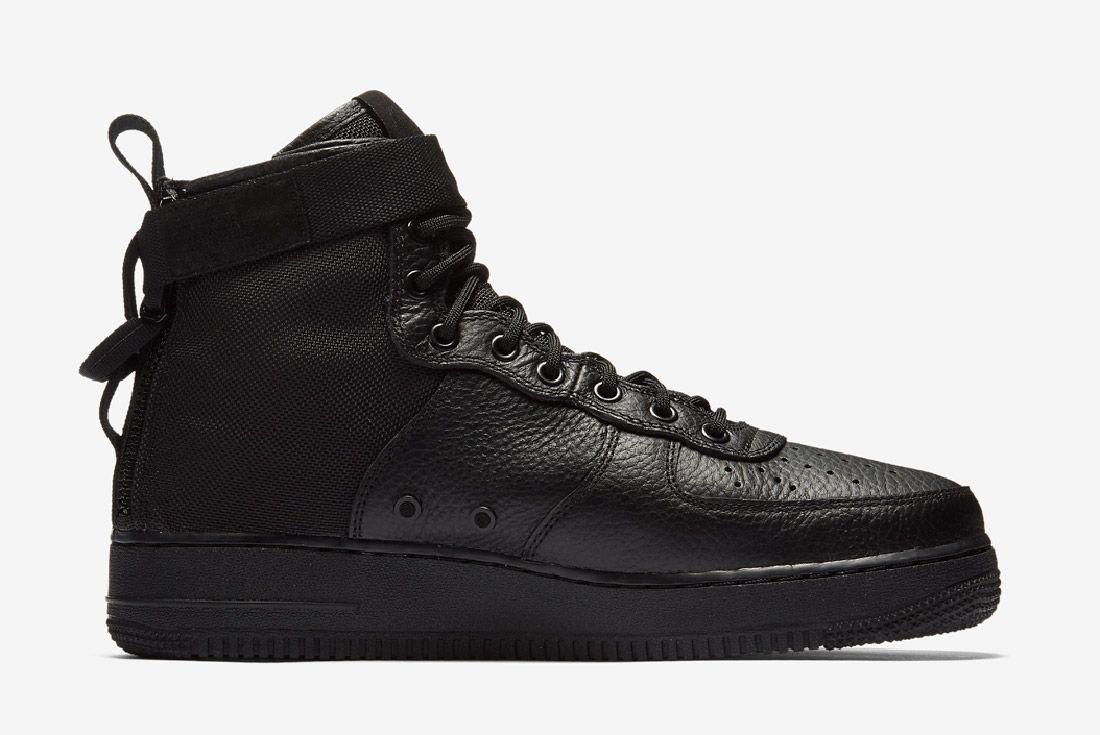 Nike Sf Air Force 1 Mid Black Sneaker Freaker 6