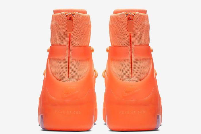 Nike Air Fear Of God 1 Orange Pulse Heel
