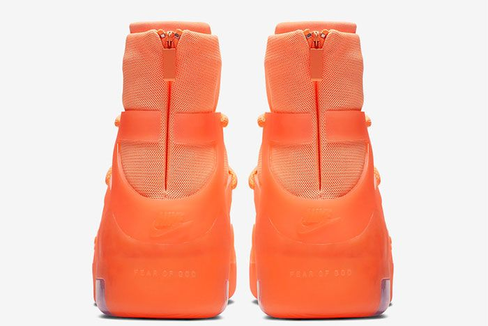 Nike Air Fear Of God 1 Orange Pulse Heel