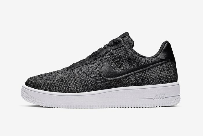 Nike Air Force 1 Flyknit 2 0 Black White Lateral