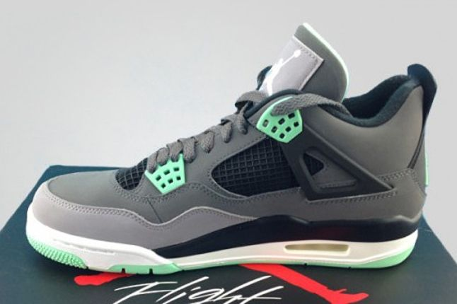 Air Jordan 4 Green Glow Profile 1