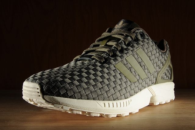 Adidas Zx Flux Reflective Weave Olive 4