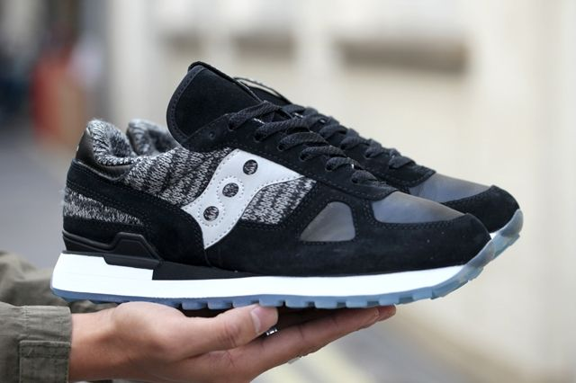 Saucony Bait Shadow Original Black Grey Bumper 5