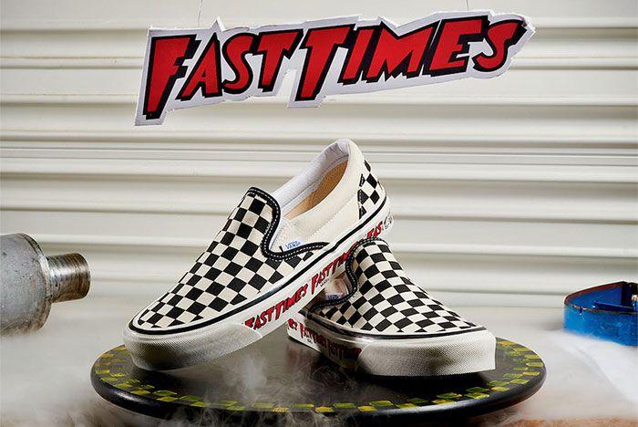 Vans Checkerboard Slip On Fast Times Pair