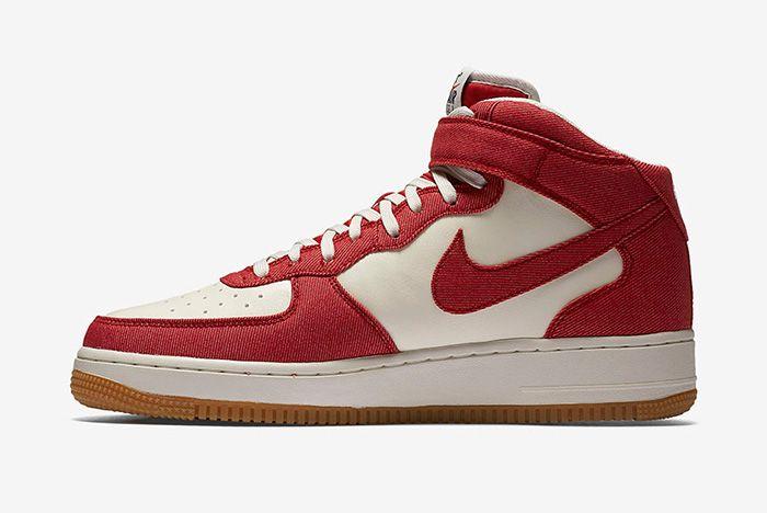 Nike Air Force 1 Red Denim 4