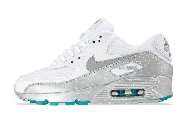 Nike Air Max 90 Metallic Silver Turquoise 3