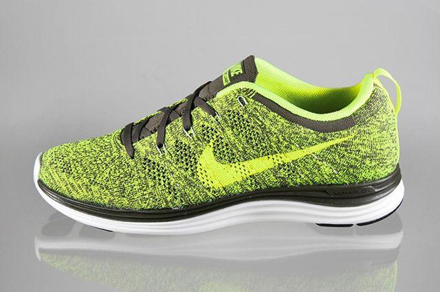Nike Lunar Flyknit1 Green Tarp Volt 1