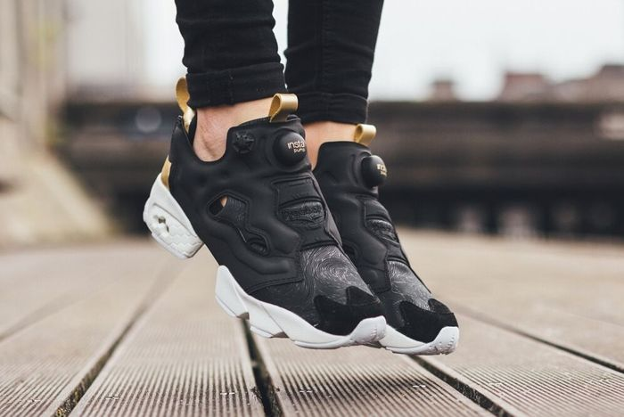 Reebok Insta Pump Fury Black Gold White 11