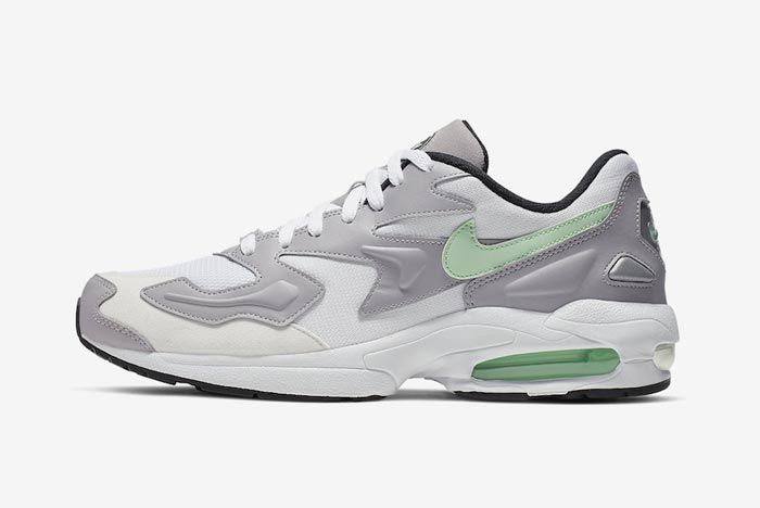 Nike Air Max2 Vast Grey Fresh Mint Lateral