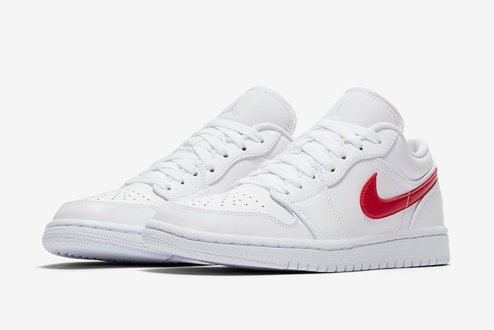 Air Jordan 1 Low White University Red Ao9944 161 Front Angle