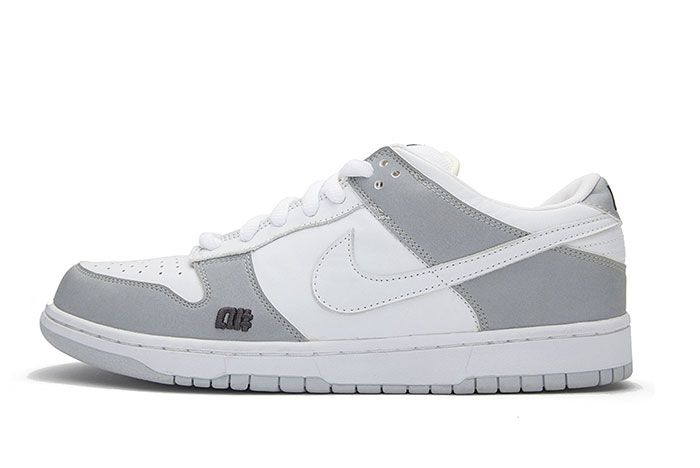 Nike Sb Dunk Low Alphanumeric White Lateral Side