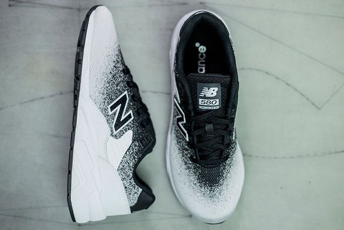 New Balance Mrt 580 Jr Reengineered Knit Black White 4