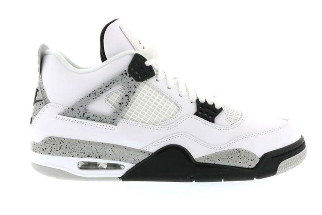 Air Jordan 4 White Cement Lateral Side Shot