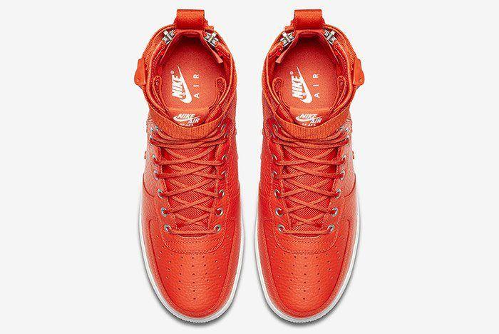 Nike Sf Air Force 1 Mid Team Orange 4