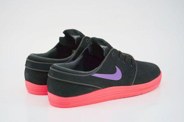 Nike Sb Lunar Stefan Janoski Black Hyper Grape Hyper Punch Heel