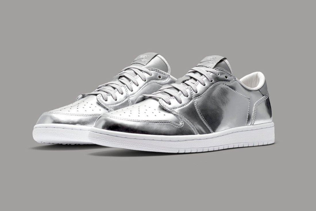 Air Jordan 1 Low Pinnacle Silver 1