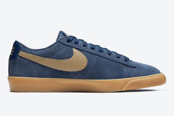 Nike Sb Blazer Low Gt Midnight Navy Gum 704939 403 Release Date Official 4