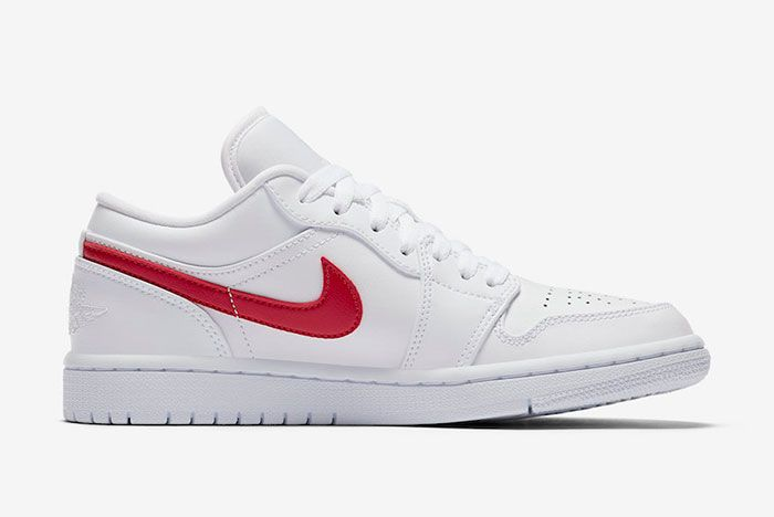 Air Jordan 1 Low White University Red Ao9944 161 Medial