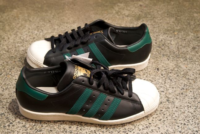 Adidas Superstar Black Green 1