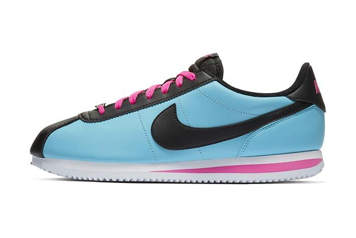 Nike Cortez Blue Gale Laser Fuchsia 2