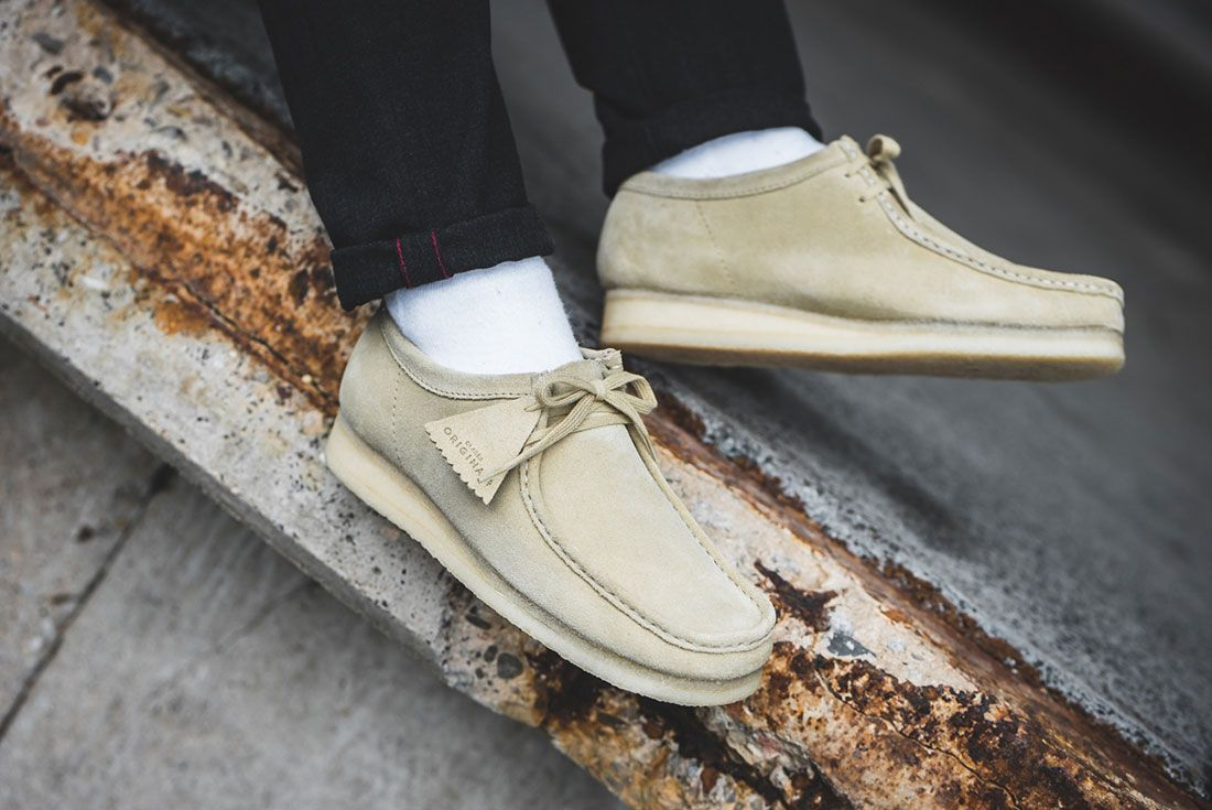 Clarks Wallabee Maple On Foot 43Einhalb