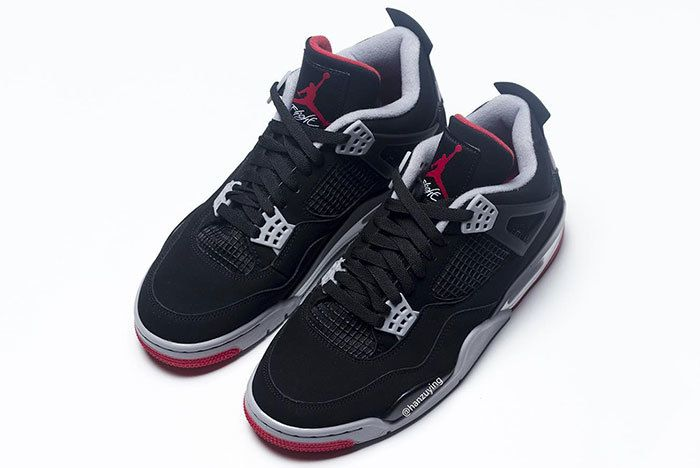 Air Jordan 4 Bred Black Red 2019 308497 060 4