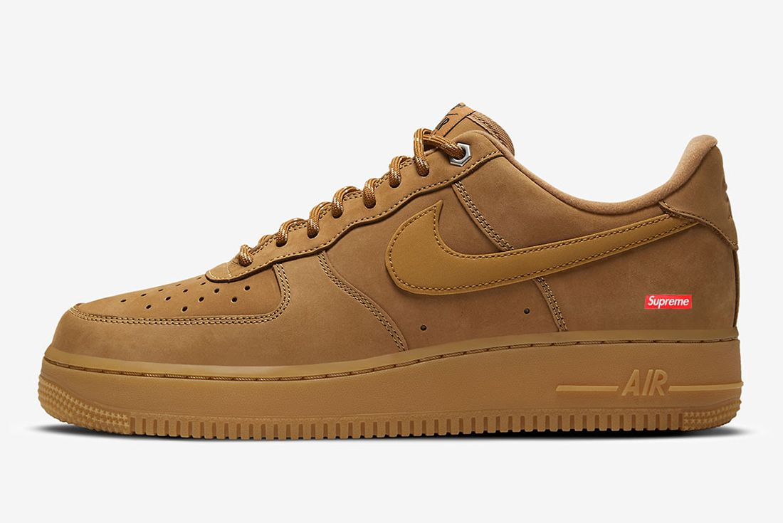 supreme x nike air force 1 flax leak mock up