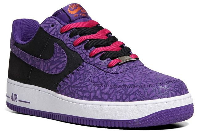 Nike Air Force 1 Le Godzilla Pack Black Purple Quater 1