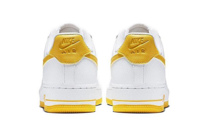 Nike Air Force 1 Yellow White Heels