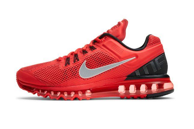 Nike Air Max 2013 Red Mens Red Profile 1