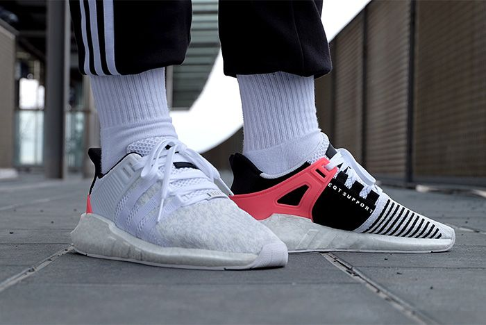 Adidas Eqt Support 9317 White Turbo Red