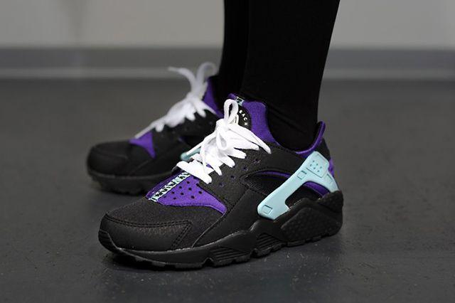 Nike Air Huarache Black Court Purple 11
