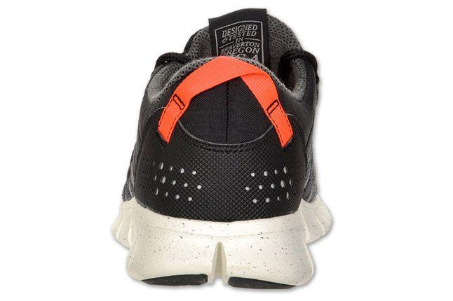Nike Free Powerlines Mens Running Black Orange Grey Heel 1