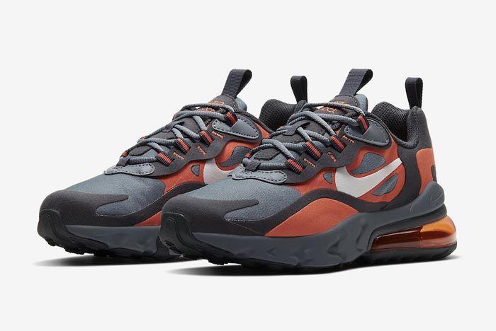 Nike Air Max 270 React Grey Orange Gs Pair